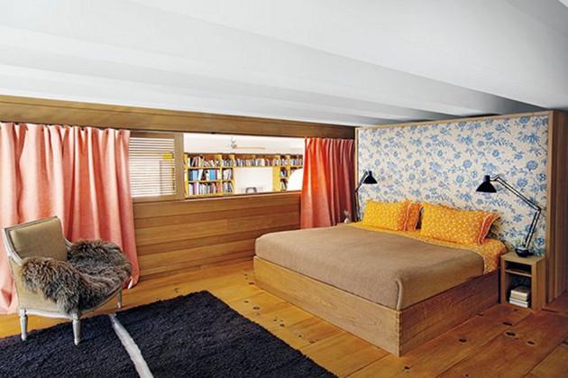 Ein Schlafzimmer mit Blick im New Yorker Loft von Inez van Lamsweerde & Vinoodh Matadin. Foto: Inez & Vinoodh