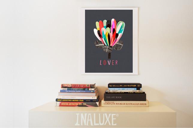 """Zum Verlieben: Der Print """"Lover"""" von Inaluxe."""