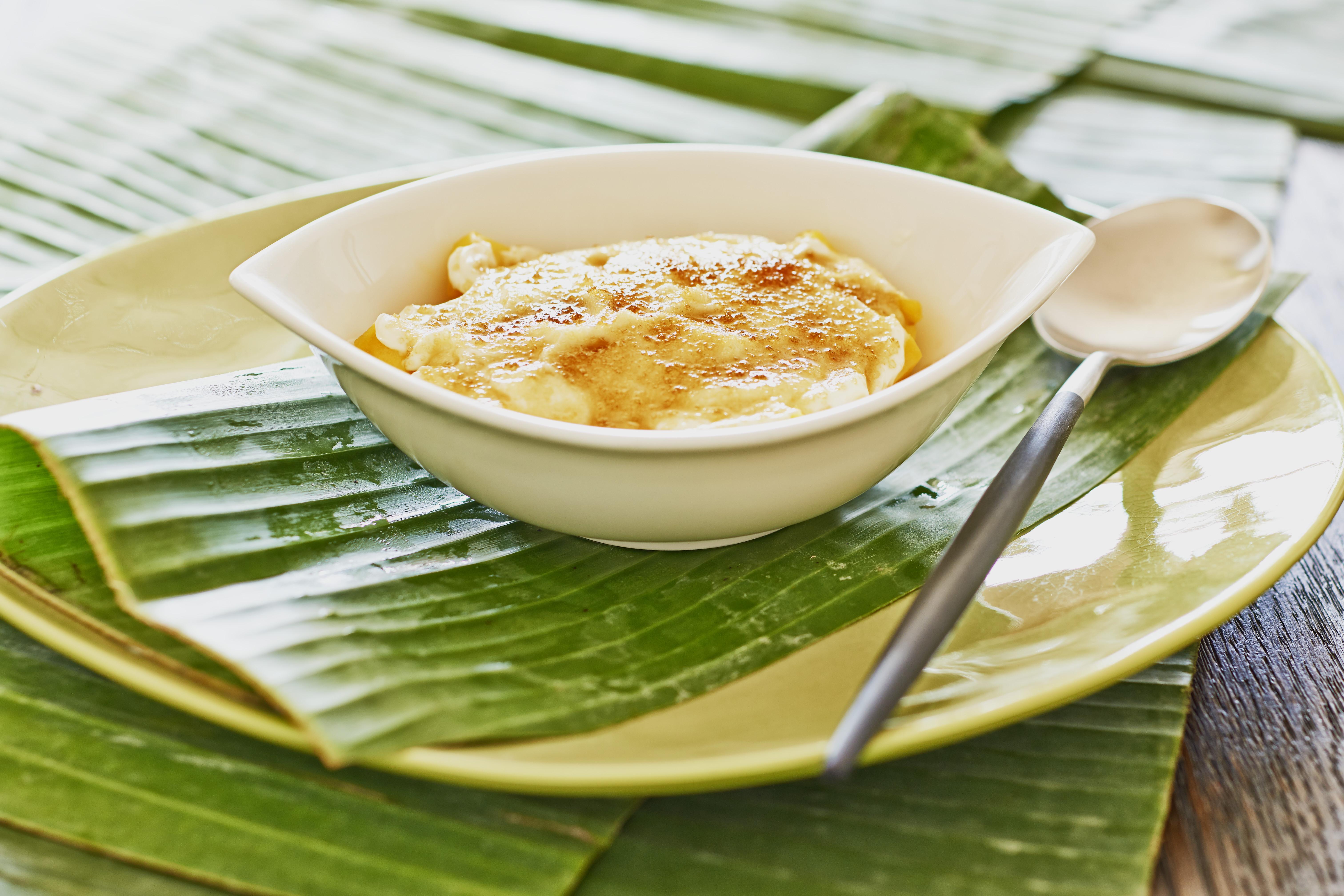 Mangocreme mit Ingwer und Karamellkruste