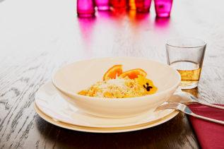 Risotto mit Kürbis, Zitronengras und Ingwer