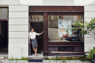 Eingang des Ateliers von Saskia Diez