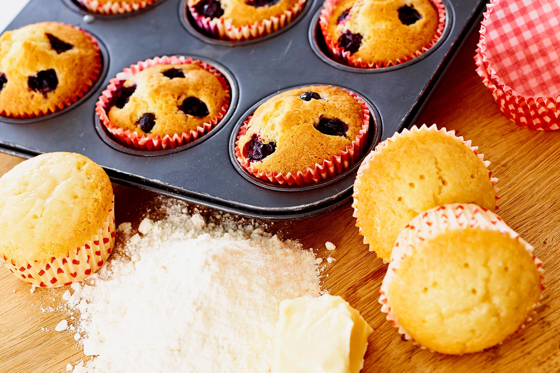 heidelbeer bananen muffins cookionista. Black Bedroom Furniture Sets. Home Design Ideas