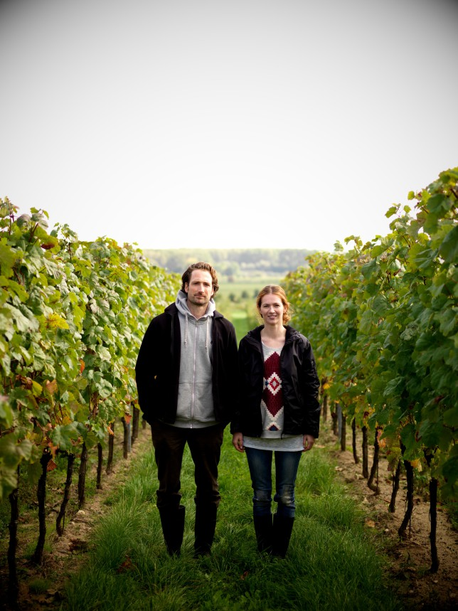 Das Winzerpaar von Gut Oggau: Stephanie und Eduard Tscheppe-Eselböck