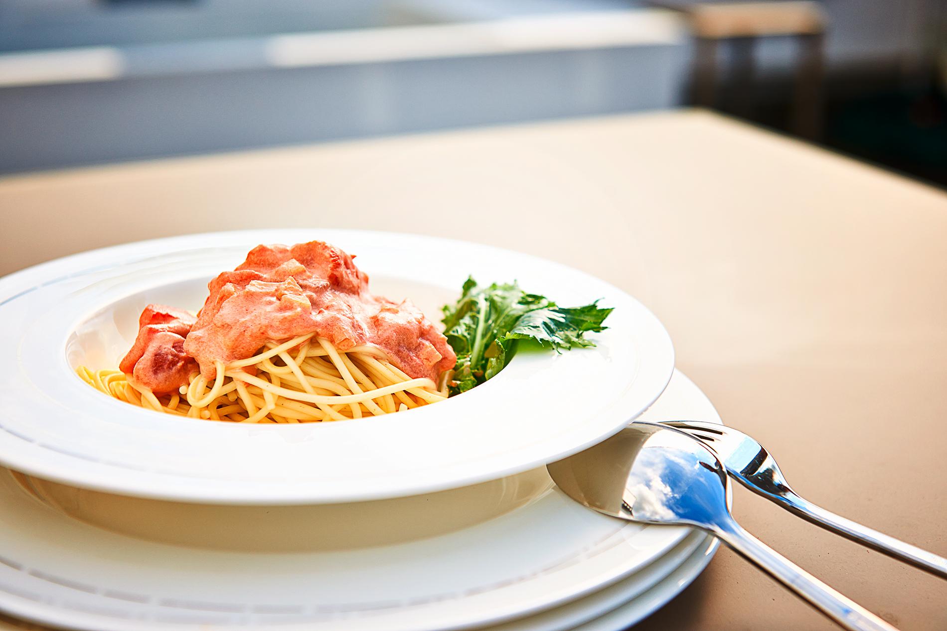 Spaghetti mit Tomate, Vanille und Wodka