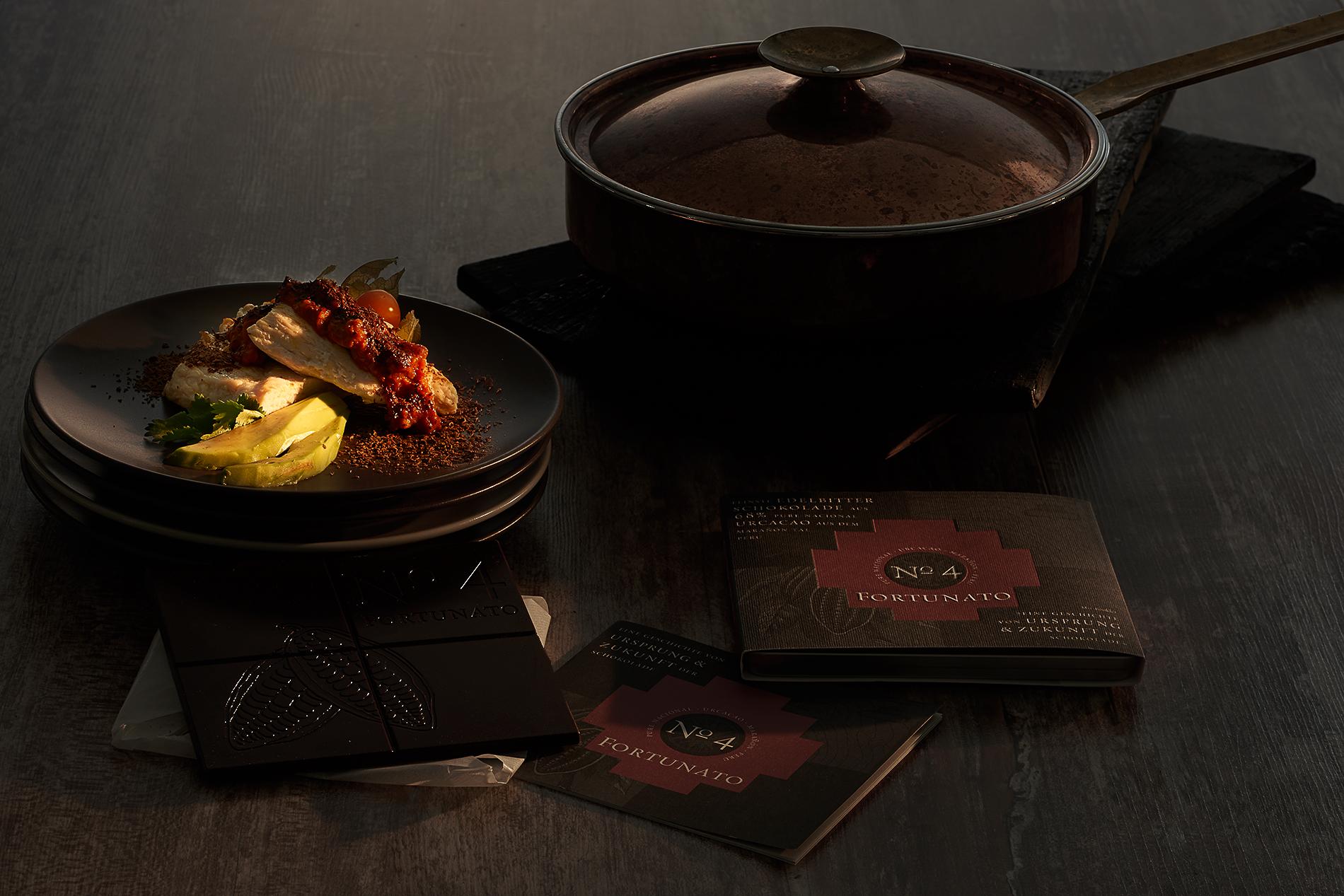 Steinbeißerfilet mit Nüssen und Schokolade