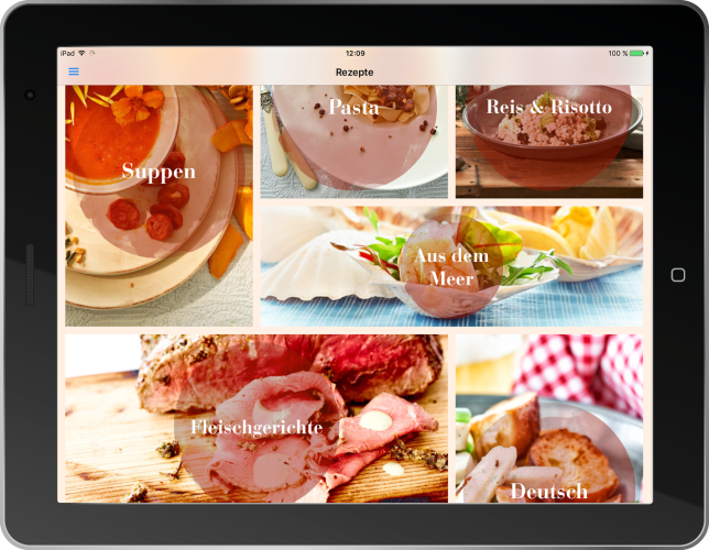 App Screenshot Tablet Rezepte