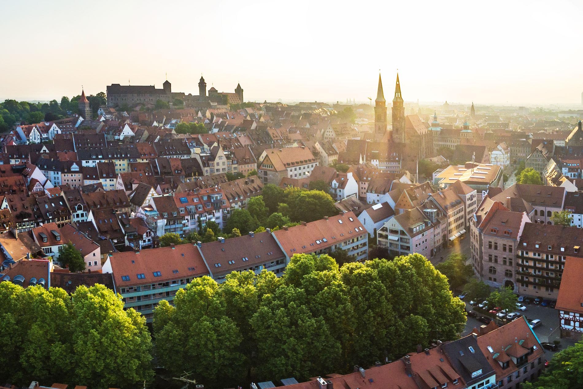 Die Nürnberger Burg aus der Luft
