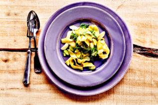 Pasta mit Bärlauch und grünem Spargel