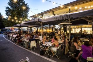 Café Bellevue München Außenbereich