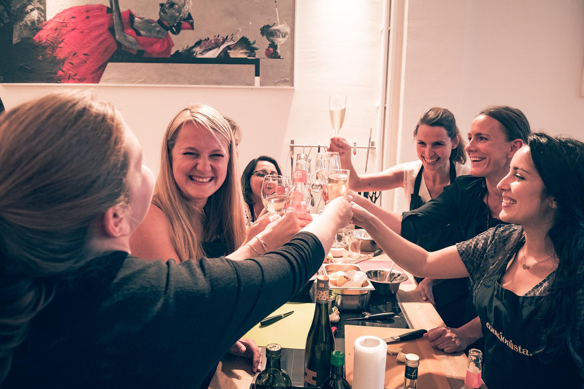 Junggesellinnenabschied feiern - Kochkurs