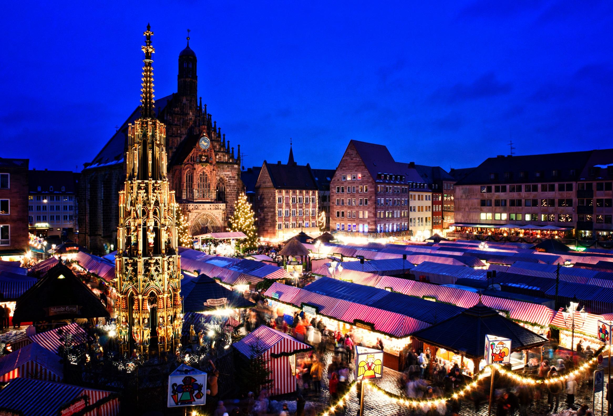 Christkindlesmarkt in Nürnberg - Ansicht von oben