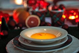 Blutorangen-Kürbis-Suppe