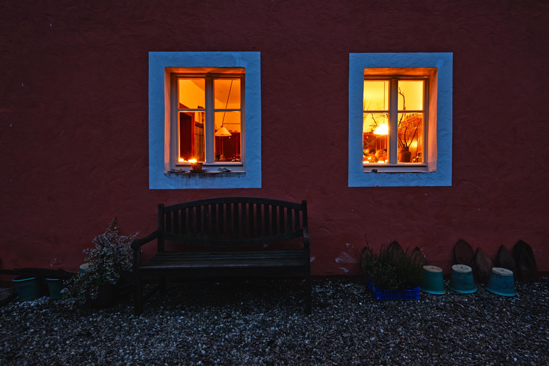 Oedmühle bei Nacht