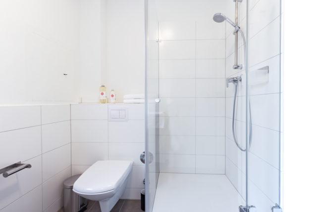 Cookionista Apartment - Badezimmer mit Dusche