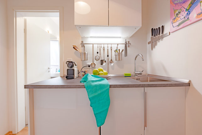 Cookionista Apartment - Blick auf die Kochnische