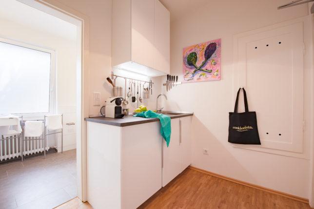 Cookionista Apartment - Blick in die Küche