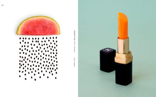Melone und Lippenstift von Sarah Illenberger im Foodbook Visual Feast
