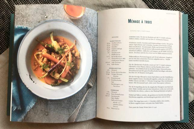 Dreierlei von der Karotte im Kochbuch Vegetarische Winterkueche