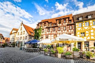 Fachwerk Fassaden in der Fürther Altstadt